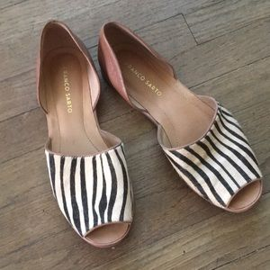 Franco Sarto Zebra Stripe Sandals